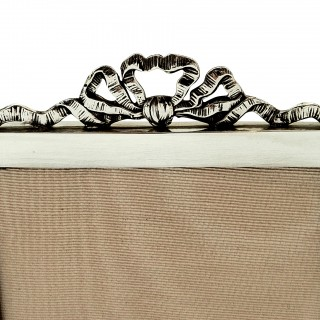 Antique Sterling Silver 'Bow / Ribbon' Photo Frame 1911