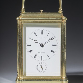A RARE AND UNUSUAL 19th-CENTURY CARRIAGE CLOCK SIGNED DEVIENNE LAMY A ST QUENTIN