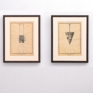 Pair of Edgar Brandt drawings