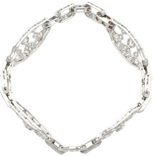 5.88ct Diamond and Platinum Bracelet - Art Deco - Antique Circa 1930