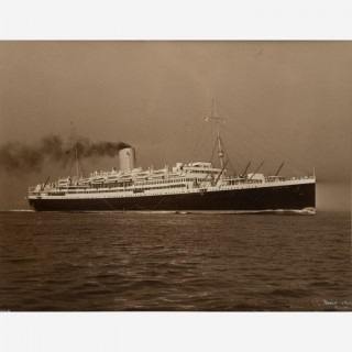A pair of Beken of Cowes Albumen Photos of the SS Andes and SS Antares