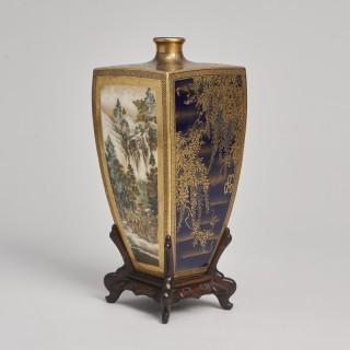 A Japanese Meiji Period Satsuma Vase signed Yasuda Company