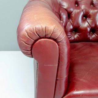 Leather Chesterfield Settee