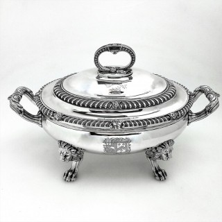 Antique Paul Storr Sterling Silver Soup Tureen 1812