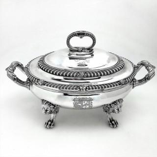 Antique Paul Storr Sterling Silver Soup Tureen 1812