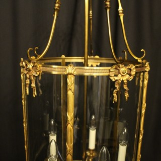 French Bronze Five Light Antique Hall Lantern
