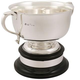 Sterling Silver Presentation Bowl - Antique George V (1918)