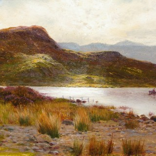 Loch Scene with a Boat