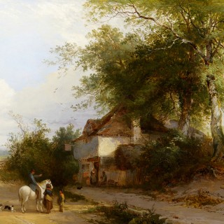 Travellers outside a Country Inn