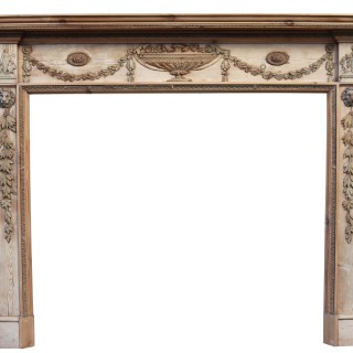 A George III Neoclassical Style Fireplace