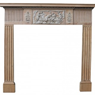 An Antique English Neoclassical Fireplace