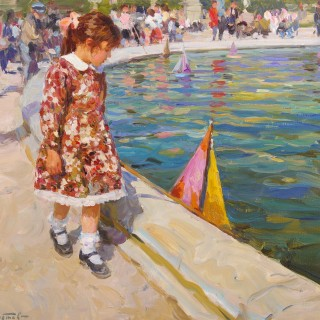 Girl with Toy Boat