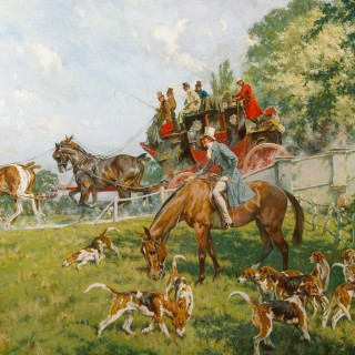 The Royal Mail Coach passing the Hounds
