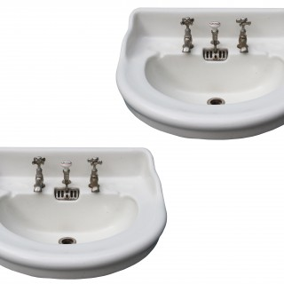 Two Reclaimed Jacob Delafon Sinks or Wash Basins