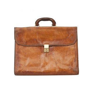 Leather Principe Expandable Attache Case