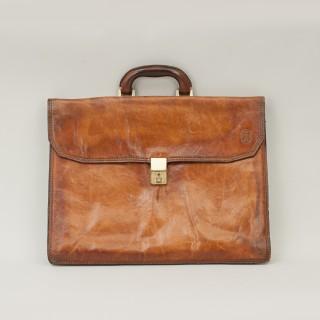 Leather Principe Expandable Attache Case