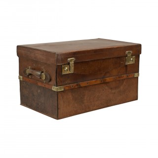 Traveling Trunk In Leather