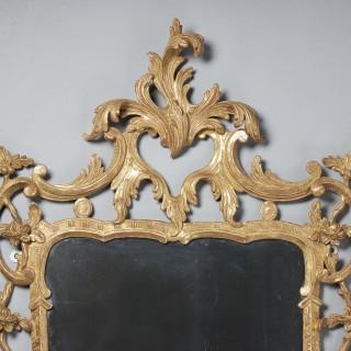 A Fine 18th Century Georgian Chippendale Giltwood Rococo Mirror Circa 1760