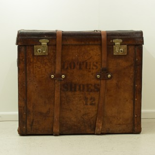 Large Antique Trunk For Shoes
