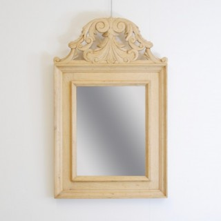 Small Stripped Oak Mirror
