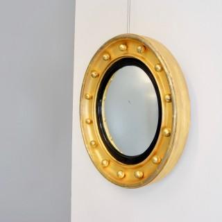 Small Gilded Convex Mirror