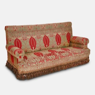 C.F.A. Voysey (1857-1941) Arts & Crafts Upholstered Sofa, Circa 1900