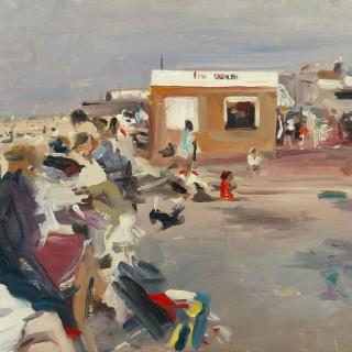 A Busy Beach Scene