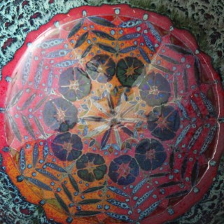 An exceptional Limoges enamel pendant by Lucien Delrive
