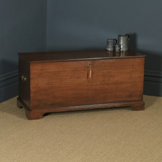 Antique English Georgian Solid Oak Trunk Blanket Box Chest / Coffer (Circa 1820)