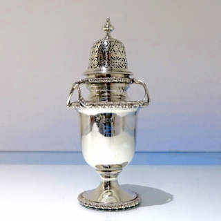 George V Sterling Silver Sugar Caster London 1910 Charles Henry Townley & John William Thomas