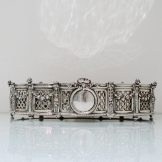 800 Standard Large Silver French Jardiniere Circa 1890