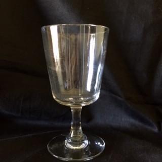 Set of plain stem goblets