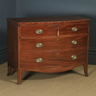 Antique English Georgian Regency Mahogany Bow Front Chest of Drawers (Circa 1820)