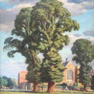 Elm Trees in the Suburbs by Francis Dodd RA (1874-1949)