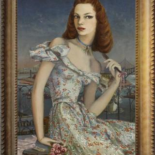 Portrait of a New York Debutante by Lucille B Harris 1944 by Karin van Leyden (1906-1977)