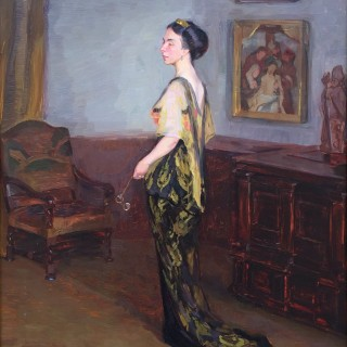 Standing Portrait of a European aristocrat by Early 20th Century Northern European School