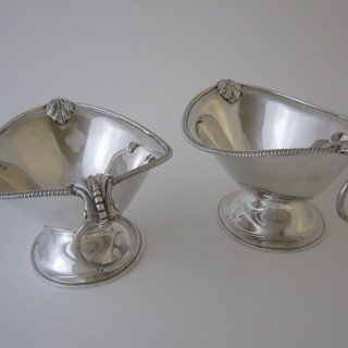Antique Victorian Sterling silver sauce boats