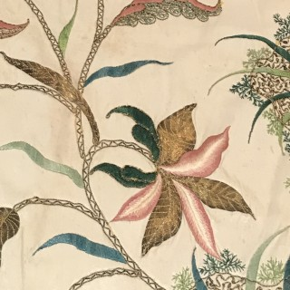 Early C18th Silk Dress  Panel
