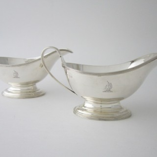 Antique Sterling silver sauce boats