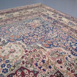Antique Laver Kirman carpet