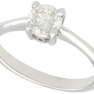 0.69 ct Diamond and 18 ct White Gold Solitaire Ring - Contemporary 2005