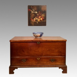 18th century  antique mahogany silver chest.