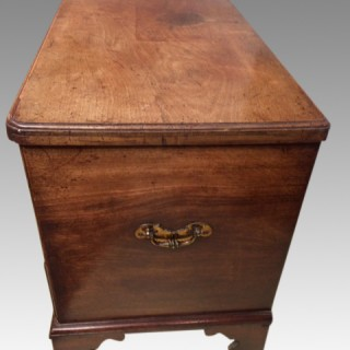 18th century  antique mahogany silver chest.