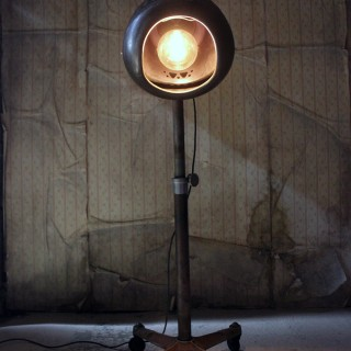 A Studio Floor Lamp Converted from a Hairdressing Salon Dryer by Eugene Ltd. c.1930