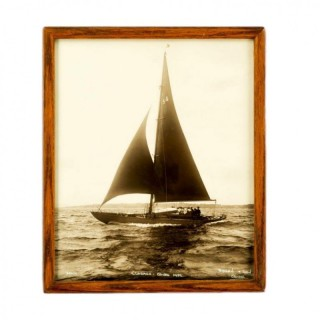 An original Photographic print of the Bermudian yacht Clodagh on Starboard tack in the Solent