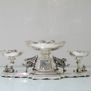 Antique Edwardian Sterling Silver Large Centrepiece London 1906 Skinner & Co