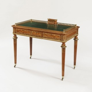 A Satinwood Writing Desk Attributed to Holland & Sons