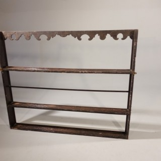 A George III Period Oak Delft Rack