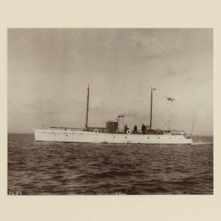 Rare original photograph by Kirks of Cowes of the Gentleman's motor yacht Ameratas