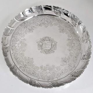 Antique George II Silver Strawberry Dish